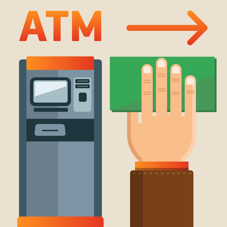 understandable: Simple and understandable information plate ATM presence. 100% editable vector format. Illustration