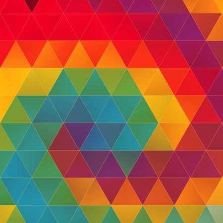 fully editable: Abstract trendy colorful geometric triangle hipsters background. Ideal for gadgets backdrop or presentations. Fully editable vector. Illustration