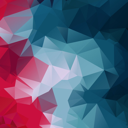Abstract polygonal red and blue background. Trendy geometric triangle hipster background. Ideal for gadgets backdrop or presentations. Vettoriali