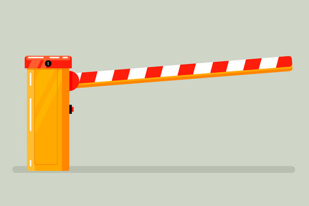 vertical dividers: Road classical  barrier sign on a light background. Fully editable vector illustration. Perfect use as symbol cards, informational plates.