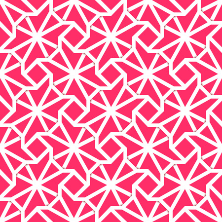 textile industry: The plexus seamless pattern with the papaer effect of a pink mangenta background. Fully editable illustration. Perfect use for textile industry, wallpapers.