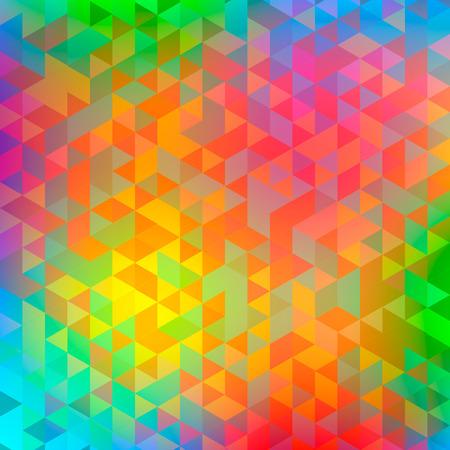 Résumé triangle multicolore fond flou. Idéal pour les gadgets toile de fond ou de présentations, écorcheurs et affiches.