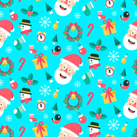 omela: Merry christmas and happy new year winter seamless pattern.
