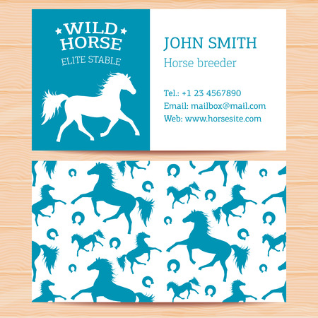 representatives: Business cards with horses for horse stables contact information and representatives.