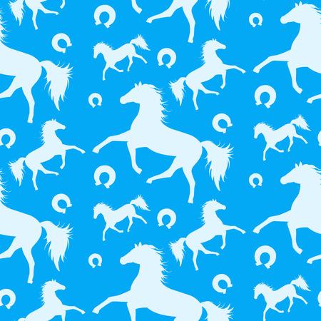 carreras de caballos: Patrón sin fisuras con los caballos que corren.
