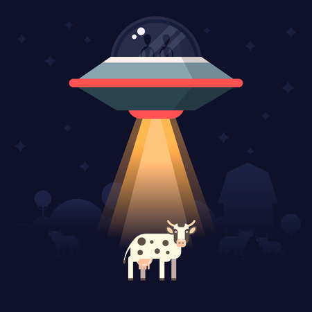 Aliens steal  the earth animals as examples for reseach. Starship and aliens on the back.