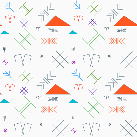 baltic: Seamless pattern with the oriental traditional baltic signs in lines. Very trendy, fashioned and stylish background or wallpaper. Fully editable backdrop. Illustration