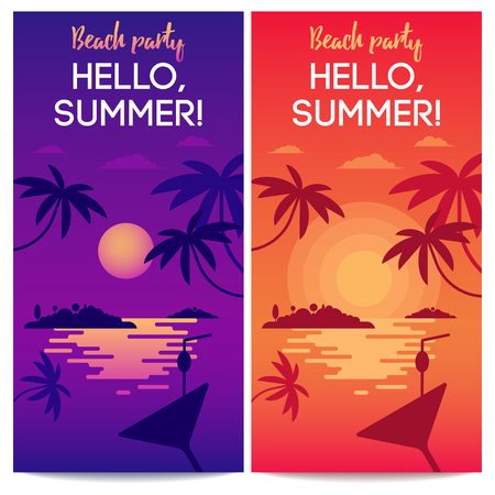 sunbath: The concept of happy dreaming vacation for traveling blog, web banners or touristic operators. Colorfull bright illustration of lonely tropical island. Illustration