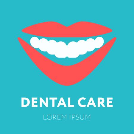 dent: Health Dent design template flat style. Illustration
