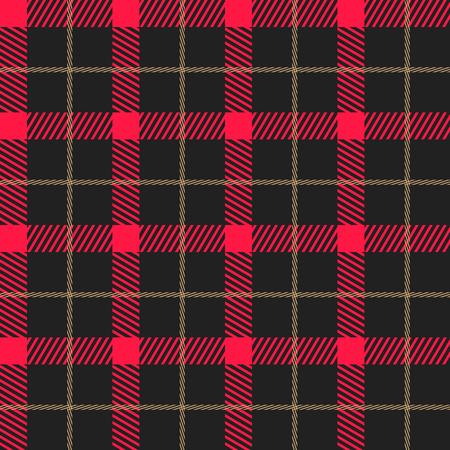 Lumberjack plaid pattern vector Stock Illustratie