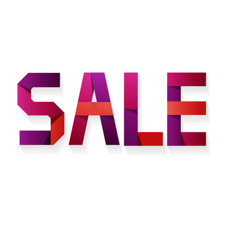 pallette: SALE Letters in different colors . Big Sale, discount, best offer, hot price stickers. Great color pallette. Paper effect