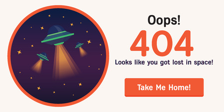 lost in space: The concept of 404 error web page with austronaut in the open space between different palnets, comets, stars and space ships. Very good idea. Perfect for sites under constructions. Vector. Flat.