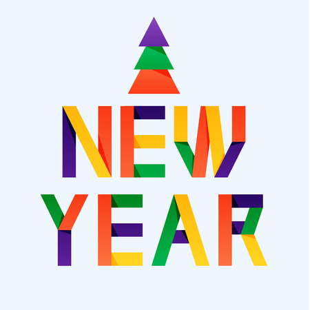 New year greeting card with the different colored letters author new year greeting card with the different colored letters author letters covered by gradient m4hsunfo