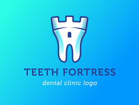 dent: Health Dent design vector template flat style on gradient background.