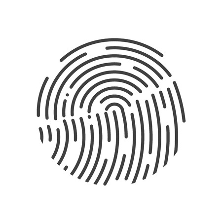 human touch: Touch Id illustration. Realistic effect. Vector illustration. Fully editable. Black-White colors.