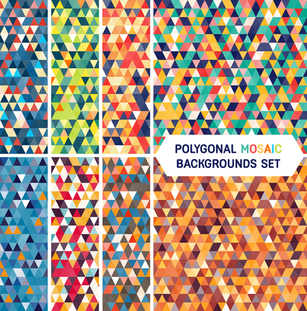 Abstract polygonal multicolor background. Trendy geometric triangle hipster background. Ideal for gadgets backdrop or presentations.