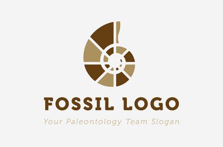 Icon for paleontology entity. Modern flat design. Illustration
