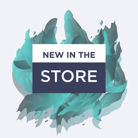 Trendy styled vector web banners for online stores promotion. Great colores, cool new concept for social network business boost. Stock Illustratie