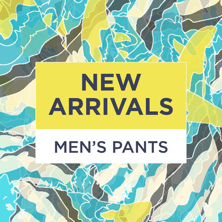 arrivals: Trendy styled vector web banners for online stores promotion. Great colores, cool new concept for social network business boost. Illustration