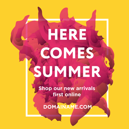 hot woman: New arrivals and summer collection concept for internet stores promo. New collection web banners. Material design trendy colors. Illustration