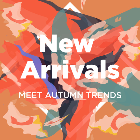 New arrivals and new collection concept for internet stores promo. New arrivals web banners. Material design trendy colors.
