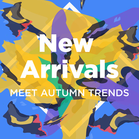New arrivals and new collection concept for internet stores promo. New arrivals web banners. Material design trendy colors. Stock Vector - 81617622