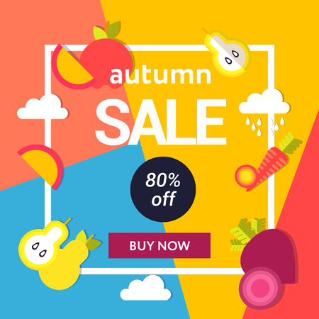 Sale web banners template for special offers advertisement. Frame with the discount offer. Trendy colors in a modern material design style.