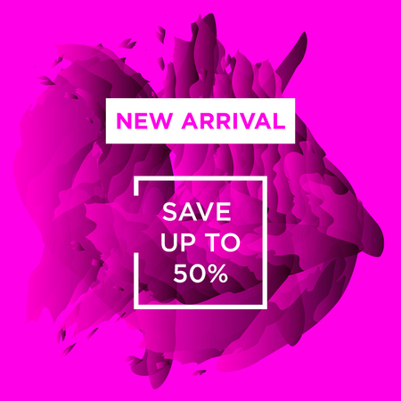 Sale web banners template for special offers advertisement. Trendy colors in a modern material design style. New arrivals concept for internet stores promo. New arrivals web baners.