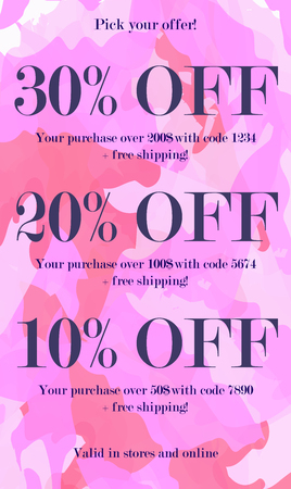 New arrivals and special offer concept for internet stores promo. New arrivals and discounts web banners. Material design trendy colors.