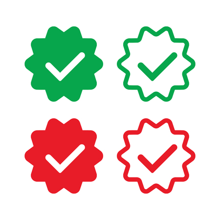 Verified and approve sign icon for social networks.