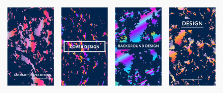 Liquid color covers set futuristic design posters 免版税图像 - 90424932