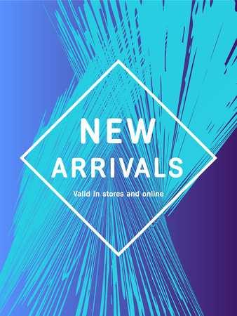 Sale web banners template for special offers advertisement. Liquid neon gradient colors within different forms. New arrivals concept for internet stores promo. New arrivals web banners.