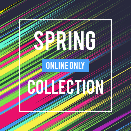 Sale web banners template for special offers advertisement. Liquid colors within different forms. New arrivals concept for internet stores promo. New arrivals web banners. Spring Collection. Archivio Fotografico - 98136170