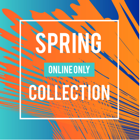 Sale web banners template for special offers advertisement. Liquid colors within different forms. New arrivals concept for internet stores promo. New arrivals web banners. Spring collection.