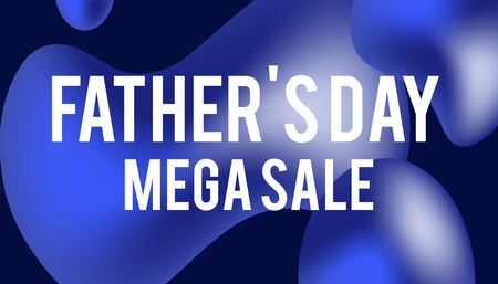 Sale web banners template for special offers advertisement. Discount offer. Super Sale concept. Liquid colors shapes with the hot text. Great sales concept. Happy Father Day Discount. Vectores