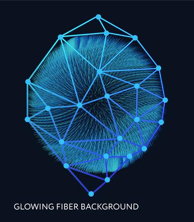 Abstract background with the glowing fiber effect. Vector design illustration. Futuristic card. Ciber technology design. Foto de archivo - 99330167