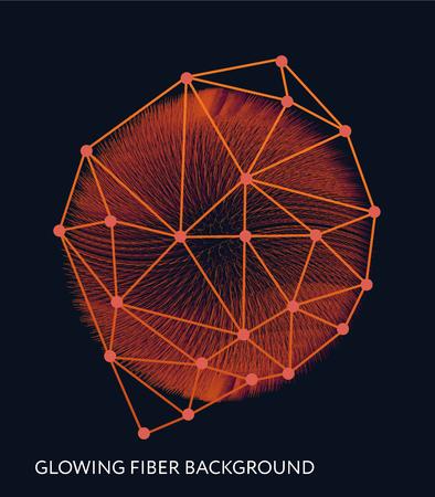 Abstract background with the glowing fiber effect. Vector design illustration. Futuristic card. Ciber technology design. Foto de archivo - 99330164