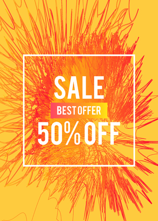 Sale web banners template for special offers advertisement. Discount offer super sale concept. Liquid colors shapes with the hot text great sales concept, bright colors.