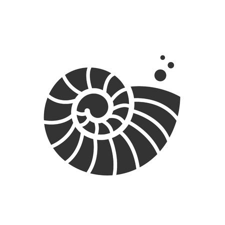 Vectorillustratie met zeeschelp nautilus. Object voor uw logo / kaart / flyer.