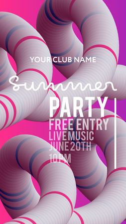 web banner or print poster for summer beach party. great concept for club and party promotion and advertisement. vector illustration, vector background. gradient colors