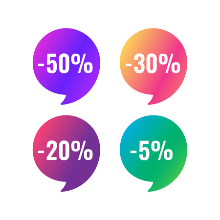 Sale web banners template for special offers advertisement. Discount offer. Super Sale concept. Liquid colors shapes with the hot text. Great sales concept. Bright colors.  Vectores