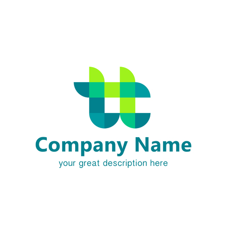 Logo design. Logotype for team company. Time for team logo concept. Gradient colors. Business concept.