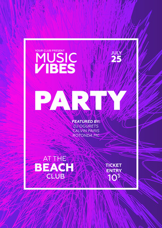 web banner or print poster for summer beach party. great concept for club and party promotion and advertisement. vector illustration, vector background
