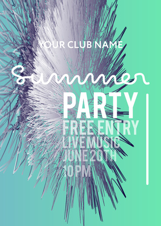 web banner or print poster for summer beach party. great concept for club and party promotion and advertisement.