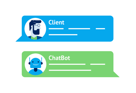 The chat bot vector design illustration. Modern flat style. Chat bot icon . Logo design. UI UX element for web design.