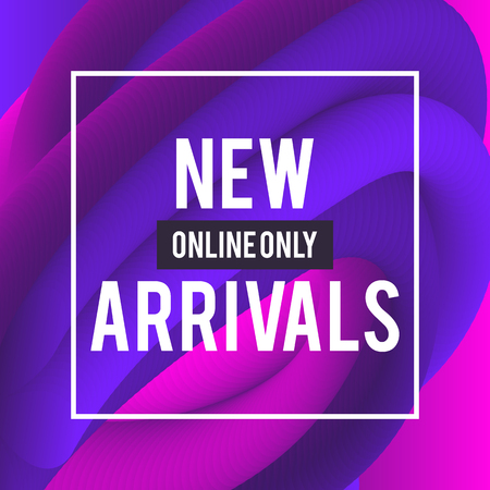 Sale web banners template for special offers advertisement. Liquid colors within different forms. New arrivals concept for internet stores promo. New arrivals web banners. Abstract background.