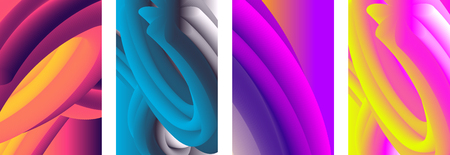 Abstract color cover. Abstract gradient background. Wave blend pattern. Fluid shapes composition. Futuristic design posters. Eps10 vector. Banque d'images - 127089744