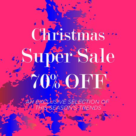 Sale web banners template for special offers advertisement. Discount offer. Super Sale concept. Liquid colors shapes with the hot text. Great sales concept. Bright colors. Abstract background. Ilustrace