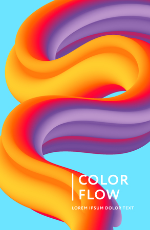 Abstract color cover. Abstract gradient background. Wave blend pattern. Fluid shapes composition. Futuristic design posters. Eps10 vector. Banque d'images - 124247834