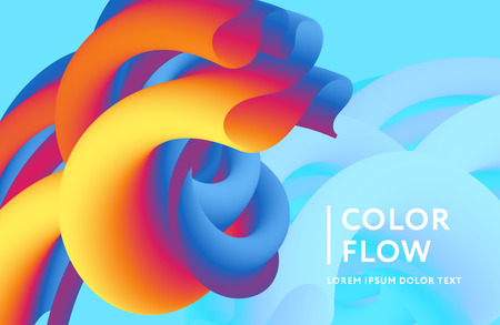 Abstract color cover. Abstract gradient background. Wave blend pattern. Fluid shapes composition. Futuristic design posters. Eps10 vector. Banque d'images - 124247835